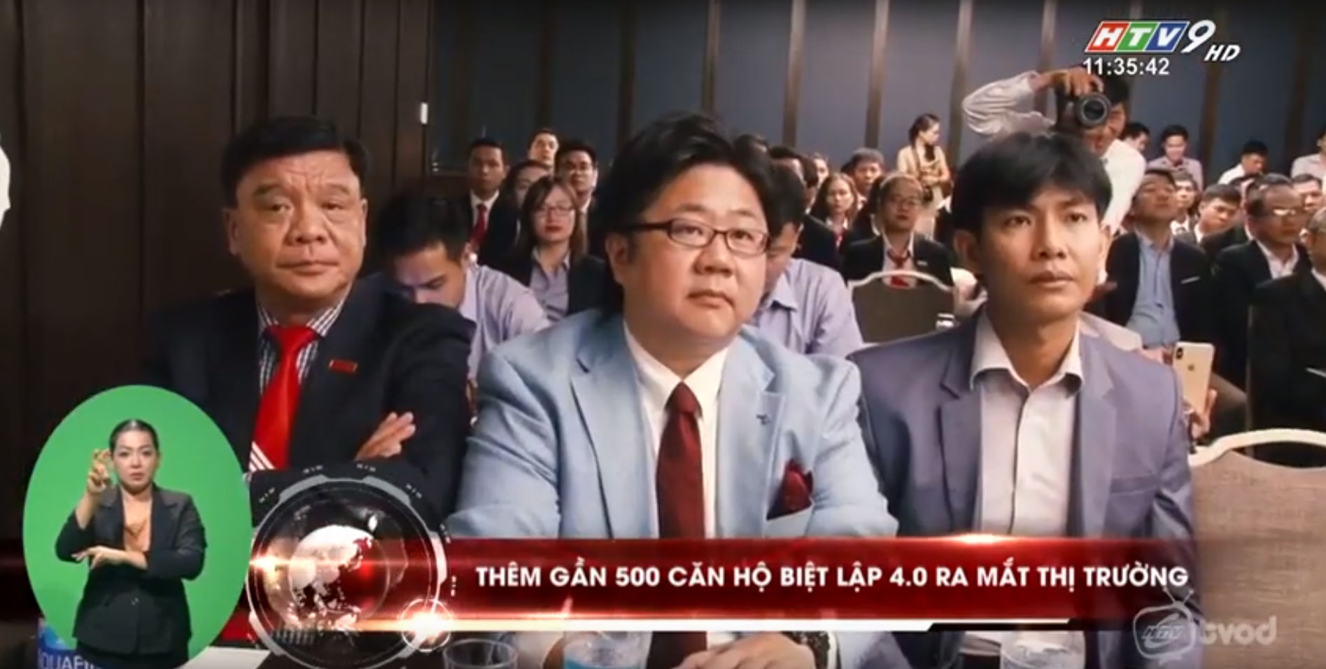 HTV9 đưa tin về Lễ ký kết hợp tác và phát triển khu căn hộ biệt lập 4.0 Happy One 2